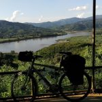 Mein Fahrrad am Mekong